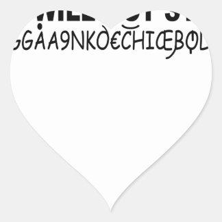 Eurotrip sicheres Wort shirt.png Herz Sticker