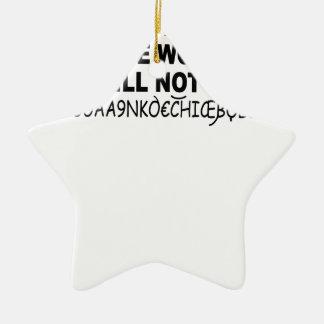 Eurotrip sicheres Wort shirt.png Keramik Stern-Ornament