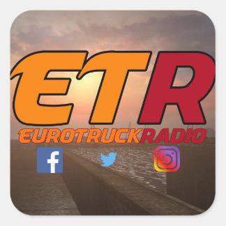 EuroTruckRadio Aufkleber-Satz-Entwurf #1 Quadratischer Aufkleber