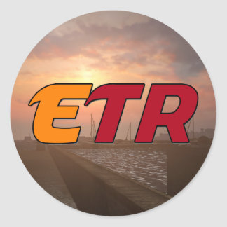 EuroTruckRadio Aufkleber-Satz-Entwurf #1 Runder Aufkleber