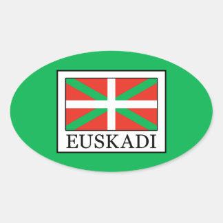 Euskadi Ovaler Aufkleber