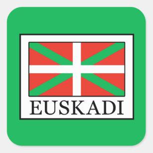 Euskadi Quadratischer Aufkleber