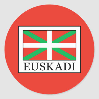 Euskadi Runder Aufkleber