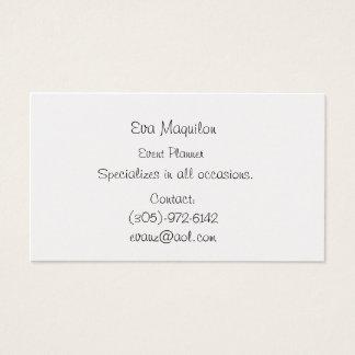 Eva Maquilon, Event-Planer, spezialisiert sich auf Visitenkarte