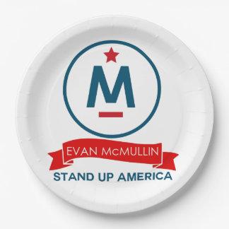Evan McMullin - stehen Sie oben Amerika! Pappteller