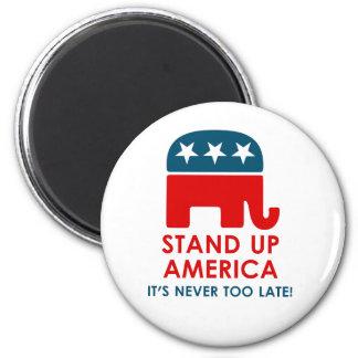 Evan McMullin - stehen Sie oben Amerika! Runder Magnet 5,7 Cm