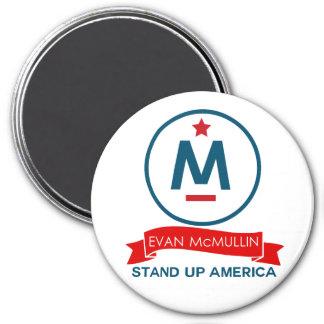 Evan McMullin - stehen Sie oben Amerika! Runder Magnet 7,6 Cm