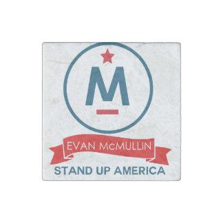 Evan McMullin - stehen Sie oben Amerika! Stein-Magnet