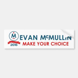 Evan McMullin treffen Ihre Wahl Autoaufkleber
