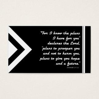 Evangelium-Flächen-Plan der Rettung Schwarzweiss Visitenkarte
