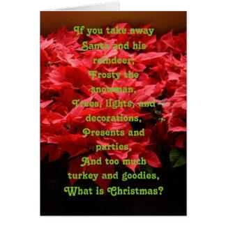 Evangelium-Weihnachtskarte Karte