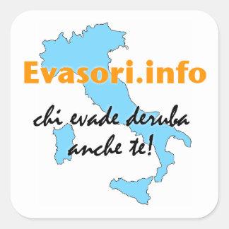 Evasori.info: adesivi grandi quadratischer aufkleber