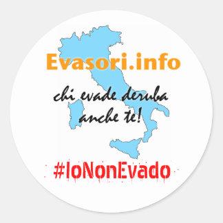 Evasori.info: adesivi #IoNonEvado Runder Aufkleber
