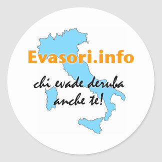 Evasori.info: adesivi piccoli runder aufkleber