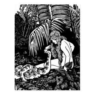 Eve im Garten Postkarte