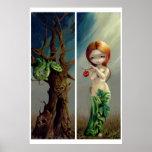 Eve und der Baum von Wissen KUNST DRUCKEN gotische Poster