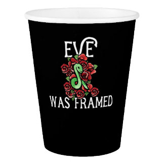 Eve war gerahmt pappbecher