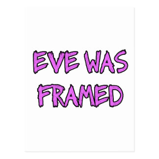 Eve war GERAHMT Postkarte