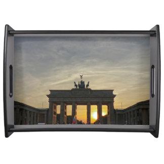 Evening at Brandenburg Gate, Berlin Tablett