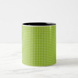 EVERGREEN-Green-Pattern-11 OZ.Mug Zweifarbige Tasse
