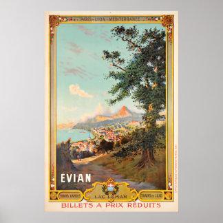 Evian, Gummilack Léman, Paris - Lyon - Poster