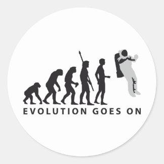 evolution astronaut runder aufkleber
