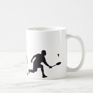 evolution badminton kaffeetasse