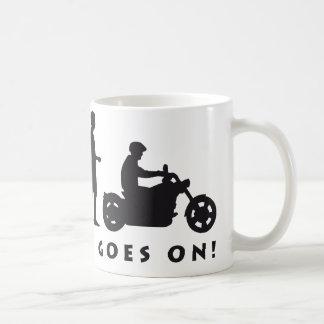 evolution biker kaffeetasse