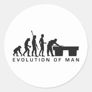 evolution billard runder aufkleber