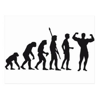 evolution bodybuilding postkarte