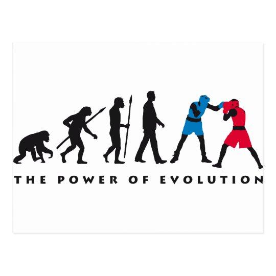 evolution box sport postkarte
