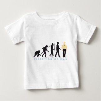 evolution cop, sheriff, marshall, policeman baby t-shirt