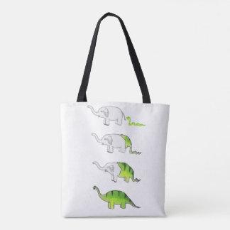 Evolution der Elefanten zu den Dinosauriern Tasche