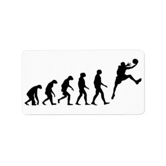 Evolution des Basketballs Adressaufkleber