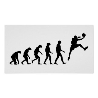 Evolution des Basketballs Poster