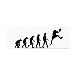 Evolution des Basketballs Rücksendeetikett
