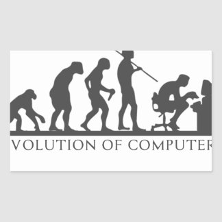 Evolution des COMPUTERS Rechteckiger Aufkleber