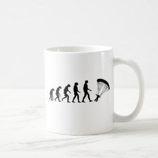 Evolution des Fallschirmspringens Kaffeetasse