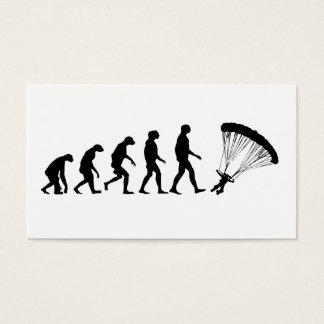 Evolution des Fallschirmspringens Visitenkarte
