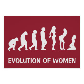 Evolution des Frauen-lustigen Plakats Poster