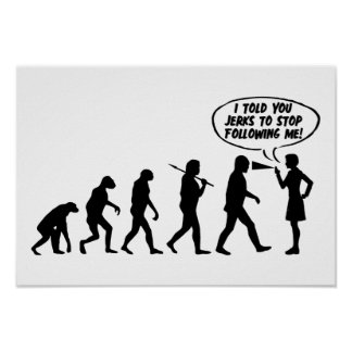 Evolution des Frauen-Pfeffer-Sprays - lustiger Poster