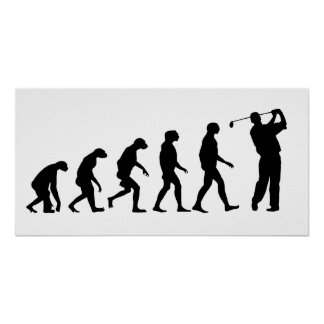 Evolution des Golfs Poster