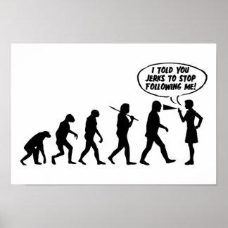 Evolution des Mann-u. Frauen-Pfeffer-Sprays Poster