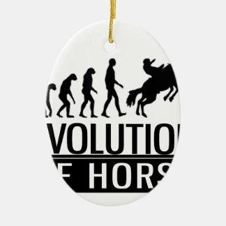 Evolution des Pferds Keramik Ornament