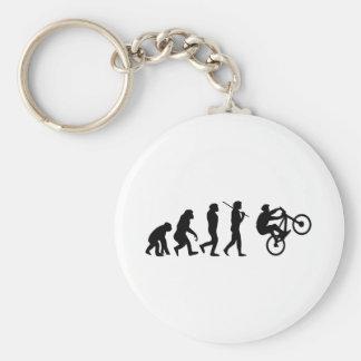 Evolution des Radfahrers Schlüsselanhänger
