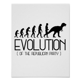 Evolution des republikanischen Party - - Poster