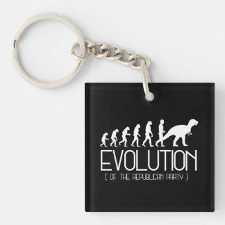 Evolution des republikanischen Party - - Schlüsselanhänger
