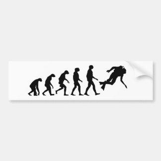 Evolution des Sporttauchens Autoaufkleber