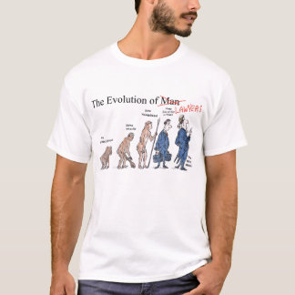 Evolution des T-Shirts der Rechtsanwalt-Männer