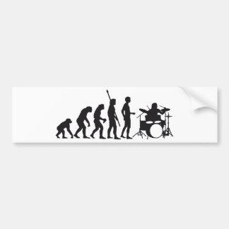 evolution drummer autoaufkleber